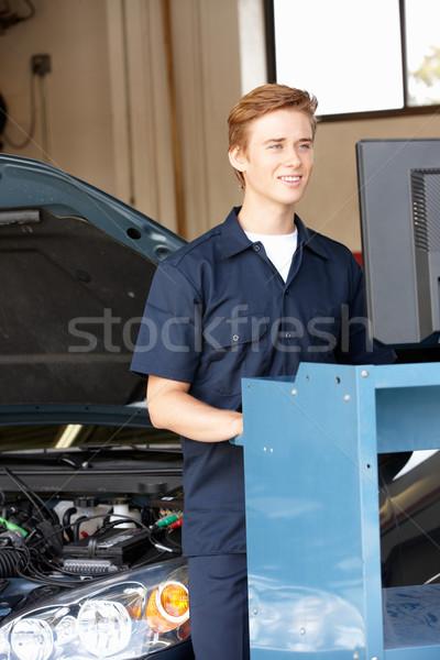 Mechanik pracy szczęśliwy pracy portret osoby Zdjęcia stock © monkey_business