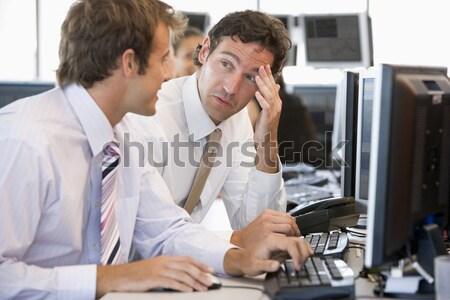 Boldogtalan tanár lány számítógéphasználat osztály számítógép Stock fotó © monkey_business