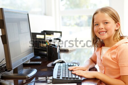 Homme clavier ordinateur classe chinois école Photo stock © monkey_business