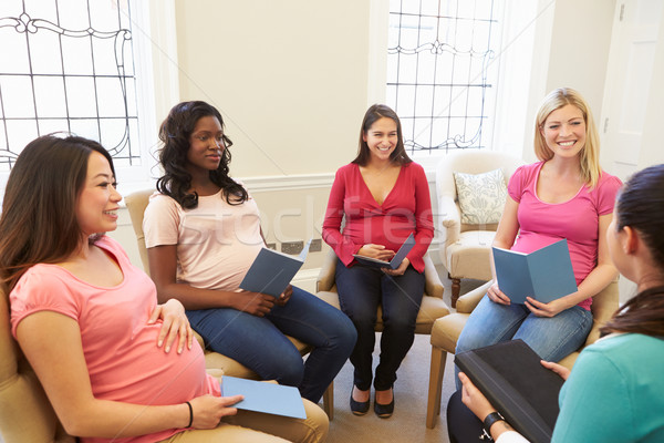 Pregnant Women Meeting At Ante Natal Class Stock photo © monkey_business