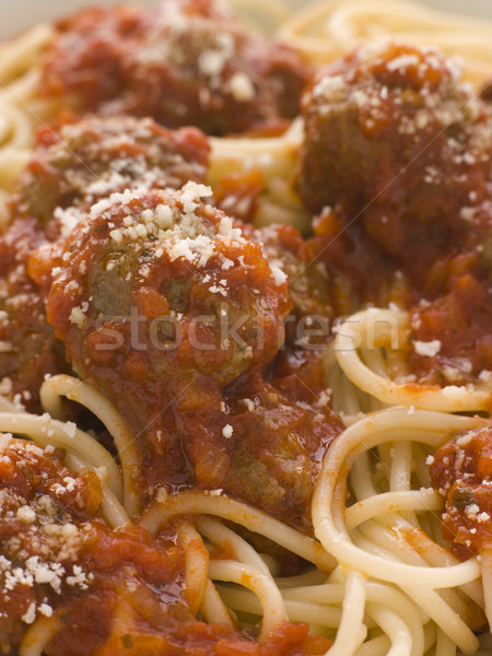 Spaghetti Meatballs sprinkled with Parmesan Cheese Stock photo © monkey_business