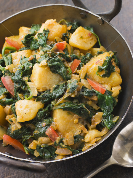 Sag Aloo in a Karai Pan Stock photo © monkey_business