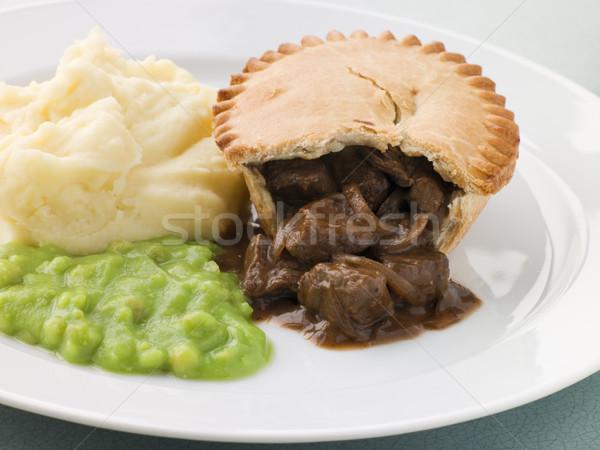 Stock fotó: Steak · pite · zöldborsó · vacsora · kávézó · hús