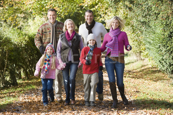 Multi-generation family on walk through woods Stock photo © monkey_business