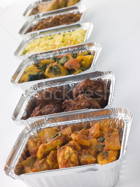 Selection Of Indian Take Away Dishes In Foil Containers Stock photo © monkey_business