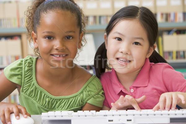 Stock foto: Kindergarten · Kinder · Technologie · Studenten · Mädchen