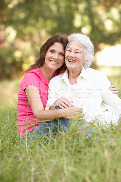 Senior Woman With Adult Daughter In Park Stock photo © monkey_business