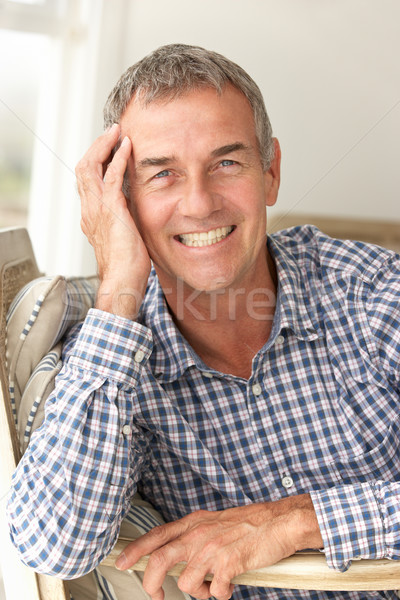 Mid age man at home Stock photo © monkey_business