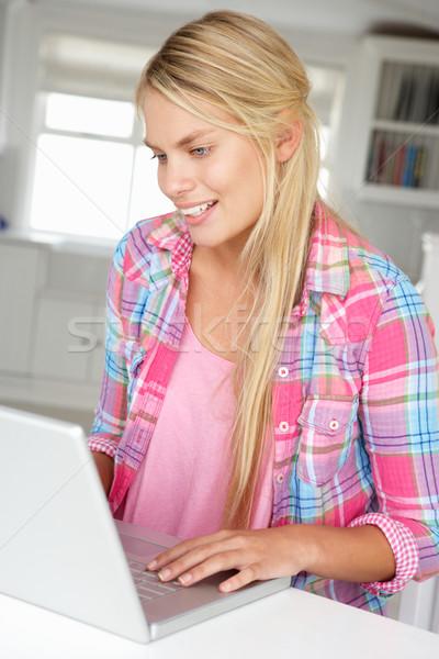 используя ноутбук школы счастливым работу ноутбука Сток-фото © monkey_business