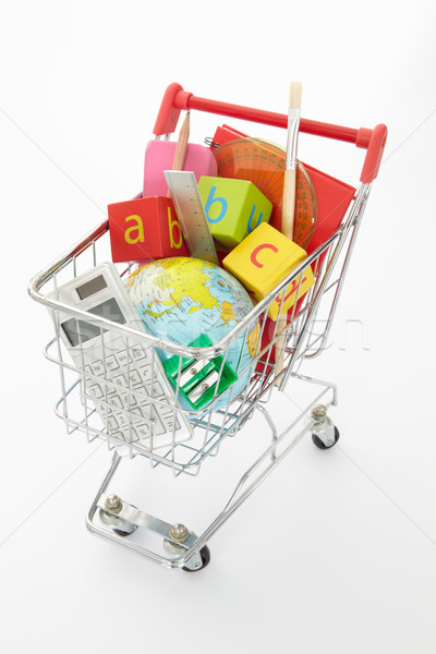 Trolley full of items for school Stock photo © monkey_business