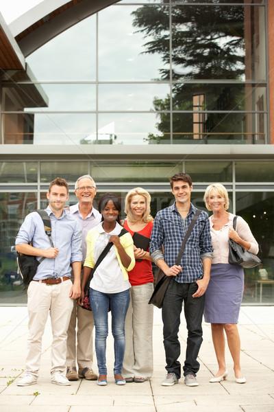 Karışık grup Öğrenciler dışında kolej kadın Stok fotoğraf © monkey_business