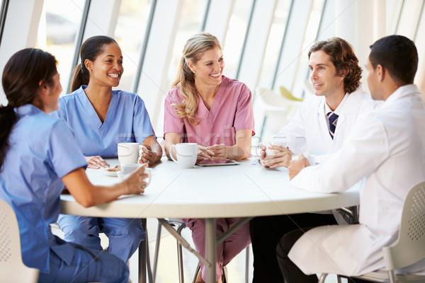 Tıbbi personel modern hastane kantin Stok fotoğraf © monkey_business
