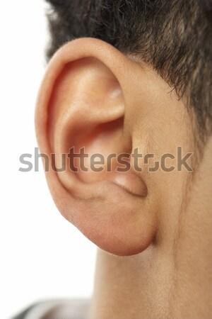 クローズアップ 小さな 男の子 耳 子 肖像 ストックフォト © monkey_business
