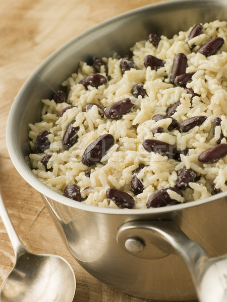 Rice and Beans in a Saucepan Stock photo © monkey_business