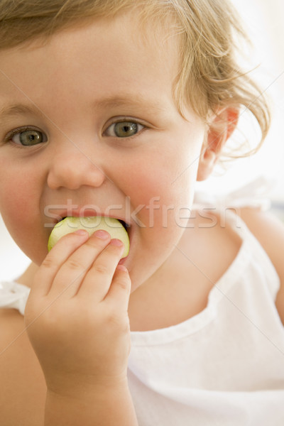 Baby indoors eating apple Stock photo © monkey_business