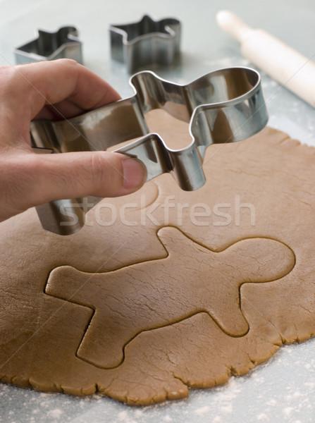 Sur gingerbread man main enfants repas Photo stock © monkey_business