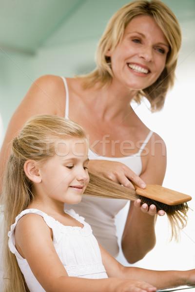 женщину ванную молодые девочек волос счастливым Сток-фото © monkey_business