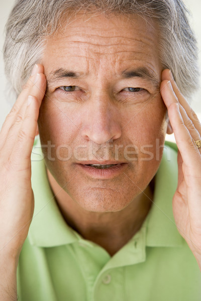 Férfi fejfájás fájdalom beteg szín egészségügy Stock fotó © monkey_business