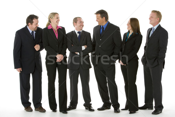 Stock photo: Group Of Business People Standing Around Conversing