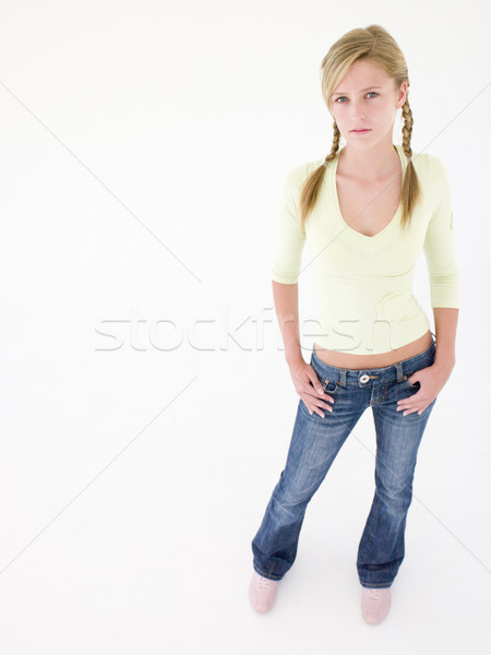 Teenage girl looking at camera Stock photo © monkey_business