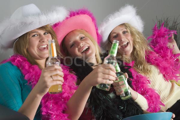 Stock foto: Up · genießen · Getränke · Party · glücklich