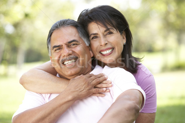 Portrait Of Senior Couple In Park Stock photo © monkey_business