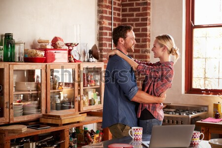 Young couple relaxing by fire Stock photo © monkey_business