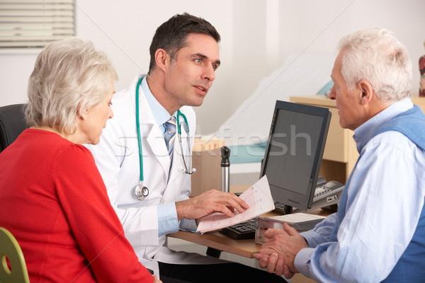 Amerikan doktor konuşma cerrahi kadın Stok fotoğraf © monkey_business