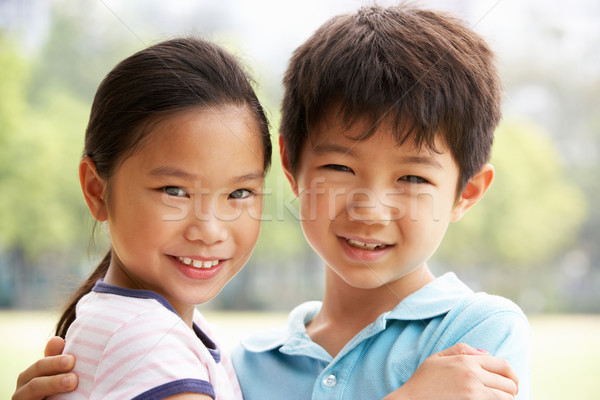 Head And Shoulders Portrait Of Chinese Boy And Girl Stock photo © monkey_business