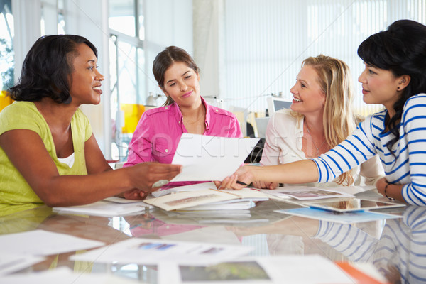 Stock photo: Group Of Women Meeting In Creative Office