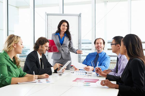 Imprenditrice riunione boardroom business donna donne Foto d'archivio © monkey_business