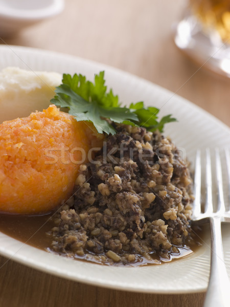 Plate of Haggis Neeps and Tatties Stock photo © monkey_business