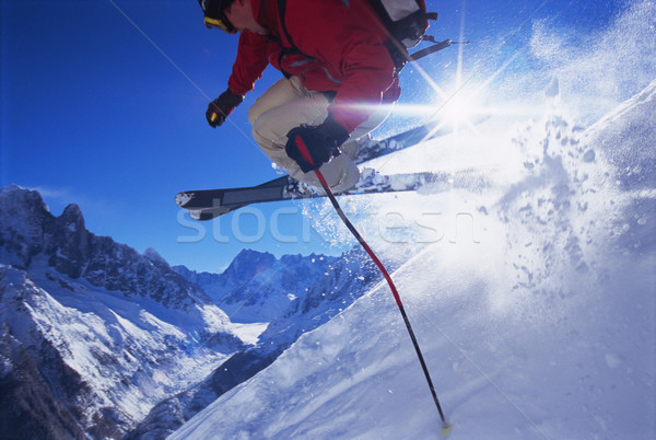 Young man skiing Stock photo © monkey_business
