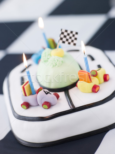 Racing Car Birthday Cake Stock photo © monkey_business