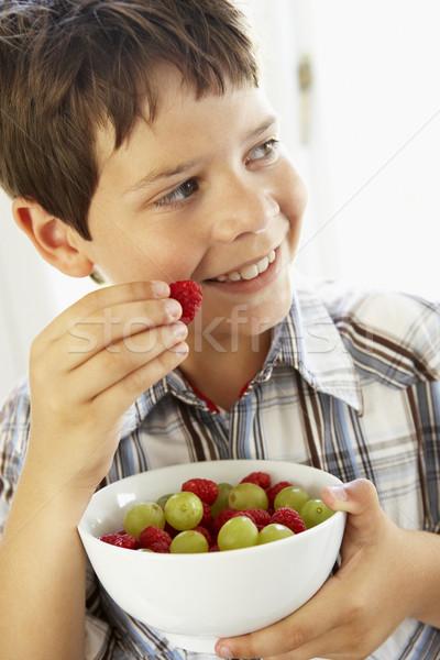 ストックフォト: 食べ · ボウル · 新鮮果物 · ホーム · 肖像