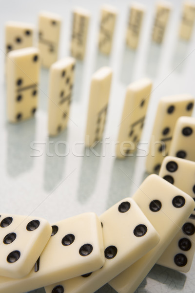 Arrangement Of Domino Pieces Collapsing Stock photo © monkey_business
