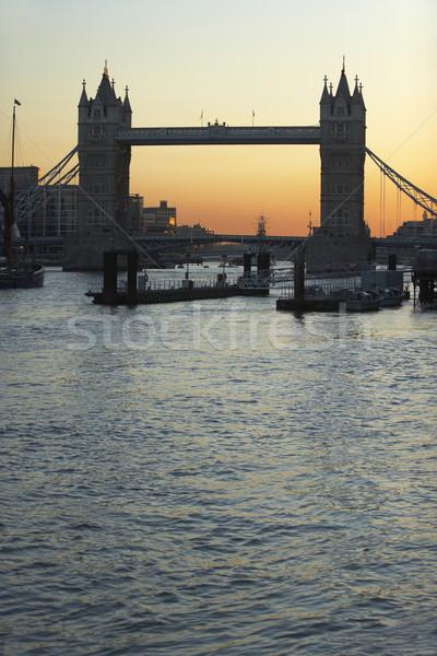タワーブリッジ 日没 ロンドン イングランド 橋 色 ストックフォト © monkey_business