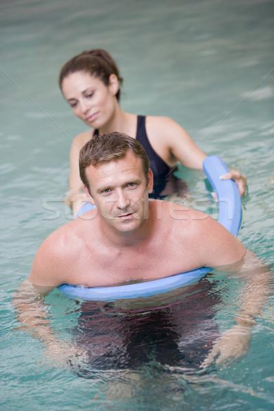 Сток-фото: инструктор · пациент · воды · терапии · женщину · человека