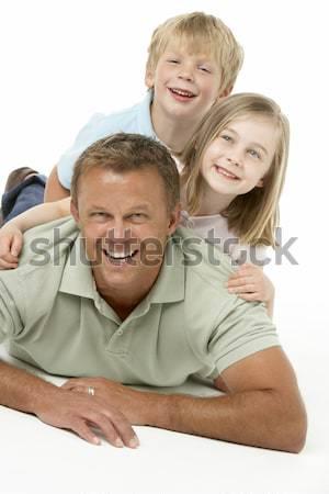 Tinilányok szórakozás kint boldog barátok csoport Stock fotó © monkey_business