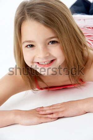 Girl Laying on Stomach Stock photo © monkey_business