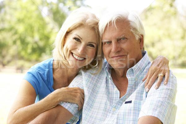 портрет парка человека счастливым пару Сток-фото © monkey_business