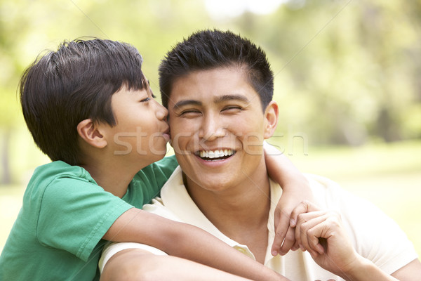 Father And Son In Park Stock photo © monkey_business