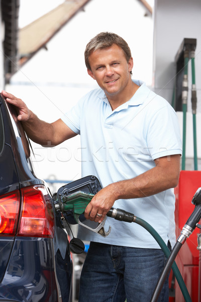 Detail Of Male Motorist Filling Car With Diesel At Petrol Statio Stock photo © monkey_business