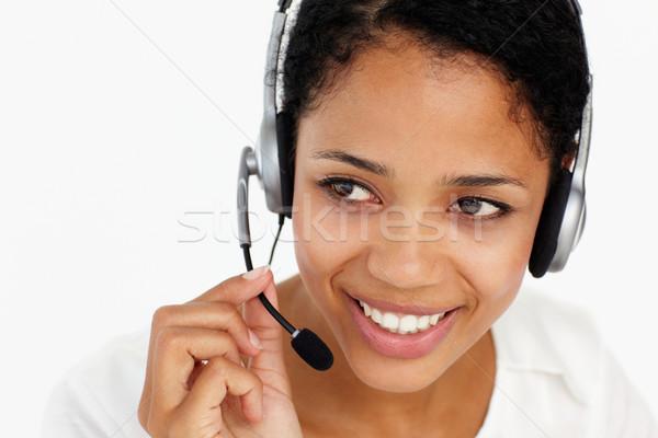 Call center operatore business donna mano telefono Foto d'archivio © monkey_business