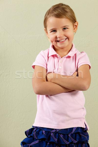 Studio Shot Of Happy Young Girl Stock photo © monkey_business