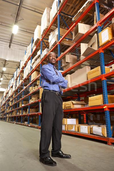 Portrait Of Businessman In Warehouse Stock photo © monkey_business