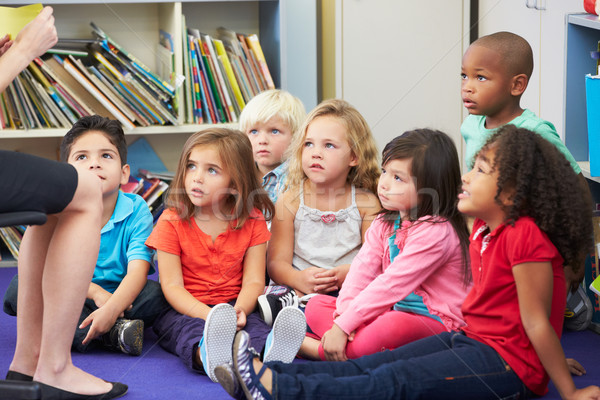 Elemental aula de trabajo maestro escuela Foto stock © monkey_business