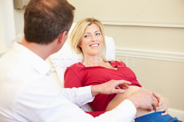 Pregnant Woman Being Given Ante Natal Check By Doctor Stock photo © monkey_business