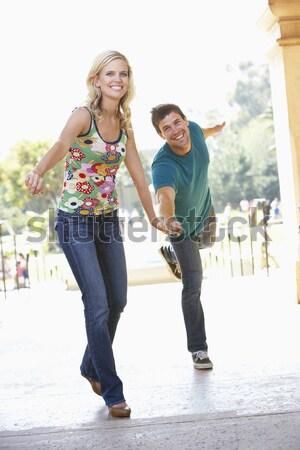 Adolescente casal estúdio homem feliz menino Foto stock © monkey_business