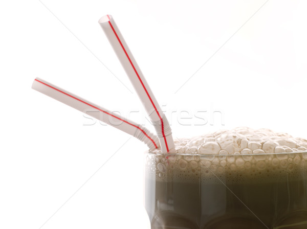 Chocolate Milkshake With Straws Stock photo © monkey_business